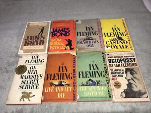 Lot of 8 - James Bond 007 Vintage Signet Paperback Books - Ian Fleming