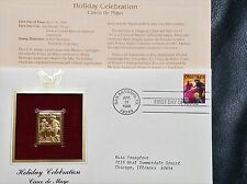 22K Gold 1998 Cinco de Mayo 1st Day Cover Gold Proof Stamp Replica w/Address