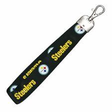 NFL Pittsburg Steelers wrist strap Wristlet Lanyard Keychain Official Licensed