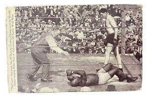 1915 Boxing Postcard Jack Johnson VS Jess Willard THE COUNT Vintage Rare LOOK