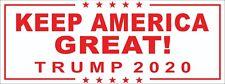 Keep America Great! Trump 2020 Bumper Sticker Decal