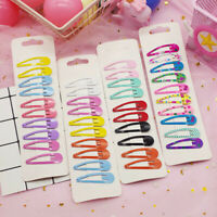 Kawaii Candy Color Kid Girl Hairpin BB Snap Hair Clips Hair Accessory Set Gift