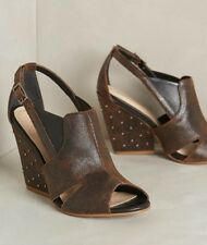 NIB Anthropologie KLUB NICO Palm Grove Wedges Heels Studs Shoes Crackled 7