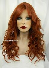 HEAT OK .. Super Sexy Gabby wig from Sepia/West Bay .. Color 350 - Foxy Red! *