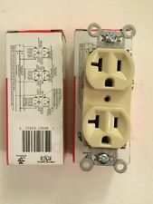 Lot Of 2 Pass & Seymour 5362-I Duplex Receptacle Ivory
