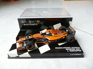 Orange Arrows Asiatech Showcar 2001 Jos Verstappen #14 Minichamps 1/43 F1 RARE