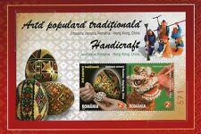 Rumanía Romania 2011 hong kong joint issue arte bloque en el cojín Folder 800