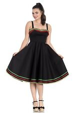 Hell Bunny Marianne Mexican 50s Style Black Dress