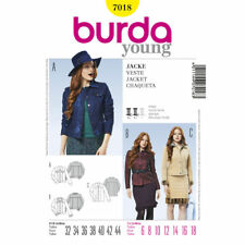 Burda Young SEWING PATTERN 7018 Misses Jeans Jacket 6-18