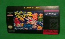 Pocky and Rocky 2 Snes Cartridge Replacement Game Label Sticker Precut
