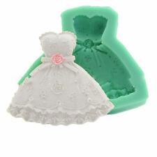 Wedding Dress Shape Fondant Mold Cake Decorating Sugar Chocolate Silicone Mould