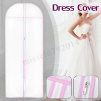 Zip Waterproof Wedding Dress Bridal Gown Garment Cover Storage Bag Carrier 🔥
