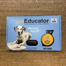 E-Collar Mini Educator ET-300 Remote Dog Training 1/2 Mile 1 Size Fits Most. EUC