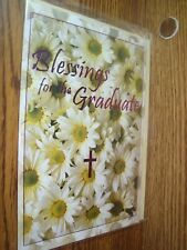 Religious: Blessings for the Graduate Graduation greeting Card w/CROSS* G38