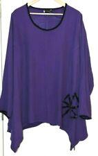 BOHEME Purple Lagenlook Asymmetrical Tunic Top Size 4