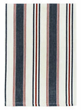 """100% Cotton Navy Red & White Striped 20""""x28"""" Dish Towel, Set of 3 - Commodore"""