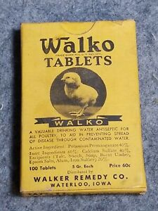 Vintage Walko Tablets, 100 Tablets