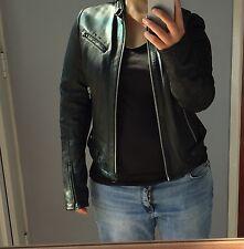 Gstar Raw Negro Cuero Biker Jacket