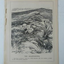 "punch cartoon 7x10"" 1930 THE DISAPPOINTER ramsay macdonald , gun dog"