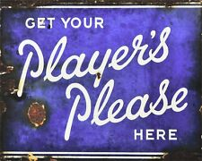 "10"" x 8"" PLAYER'S PLEASE CIGARETTES VINTAGE ADVERT METAL PLAQUE TIN SIGN 624"