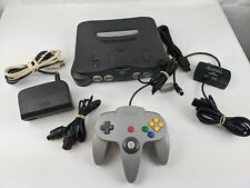 Nintendo 64 N64 System Console W/ Grey Controller, Cords, & Jumper Pack