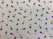 Lewis And Irene - Grandma's Garden Col:3 D#A199 Gnomes 100% Cotton By 1/4 Metre