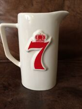 Seagram's 7 Crown American Whiskey Pitcher - White and Red - Vintage