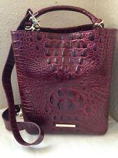 Brahmin Amelia Cranberry Melbourne Handbag Leather Sunburst R10 151 00274