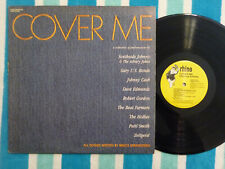 Various COVER ME LP Rhino 1986 BRUCE SPRINGSTEEN TRIBUTE Promo Stamp Johnny Cash