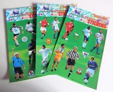 3 x 1998 MERLIN Calcio Premier League SUPERSTAR ADESIVI FOGLI (C)