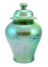 Zsolnay Green Iridescent Eosin Urn Vase