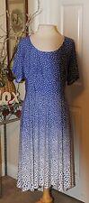 WOMEN'S PLUS SIZE WRAP DRESS BY CATO SIZE 22/24W Purple & White polka dot, NWT