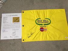 Arnold Palmer Signed Embroidered Bay Hill Golf Pin Flag JSA LOA & Bonus Ball PGA