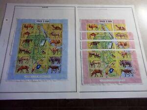 BURUNDI ANIMALS BIRDS STAMPS Scott 336, C127 Used CTO AFRICA