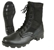 Jungle Boots Black Leather Military Rothco 5081