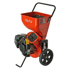 196cc Gas Powered Wood Chipper Shredder Shred Branches w/ 6.5hp Kohler Engine