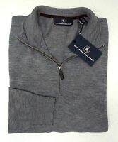 NWT $150 Hart Schaffner Marx Grey Chevron Sweater Merino Wool Mens Size M L NEW