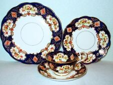 "Antique Royal Albert ""DERBY"" 4 Piece Set Cup & Saucer Dessert Plate Bread"