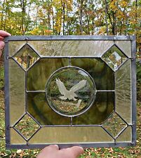 Stained Leaded Beveled Art Glass American Eagle Panel Window Sun-catcher Bird