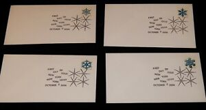 Vintage Cover, UNITED STATES, LOT OF 4, NEW YORK CITY, 2006, Winter Snowflakes