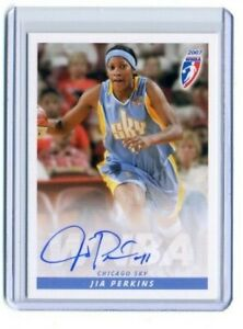 Jia Perkins 2007 WNBA Rittenhouse Archives Certified On Card Autograph Auto