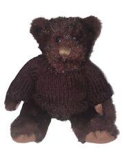 "Dakin Applause Teddy Bear Plush 6"" Burgundy Sweater Authentic Genuine"
