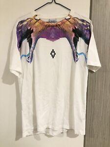Marcelo Burlon Unisex Printed White T-shirt, Size S, RRP:359, Authentic