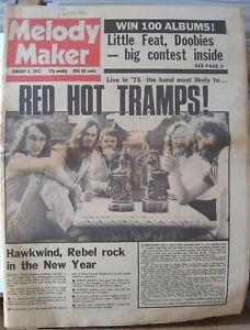 Melody Maker Jan 4th '75  Supertramp Curtis Mayfield Lynsey de Paul Wishbone Ash