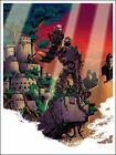 Laputa Castle in the Sky by Tim Doyle SIGNED Ltd x/100 Poster Print Art Mondo