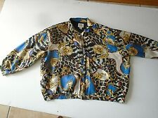 vintage A.M. Studio women's 100% silk Jacket Full front zip size 3X Lined