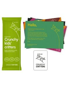 Crunchy Critters edible insects bugs Crunchy Kids' Critters, fact cards, magnet
