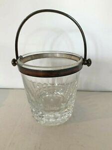 Sceau a glaçons en cristal taillé de la maison BACCARAT XX siècle