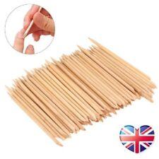 Orange Wood Sticks Nail Art Cuticle Pusher Tool Remover Pedicure Manicure UK