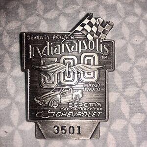 1990 INDY 500 Silver Badge Penske/Mears Family